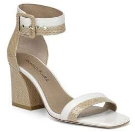 Donald J Pliner Watson Leather Ankle-Strap Sandals