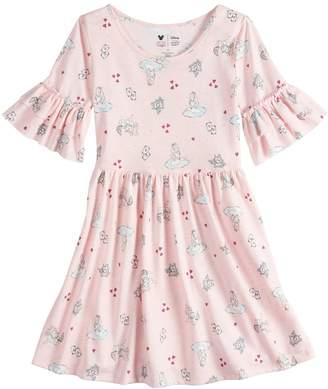 Disneyjumping Beans Disney's Alice in Wonderland Girls 4-7 Ruffle Sleeve Dress by Disney/Jumping Beans