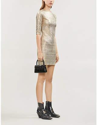 Alice + Olivia Alice & Olivia Delora stretch-jersey metallic mini dress