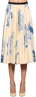 Antonio Marras Floral Print Light Cotton Skirt