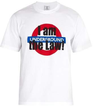 Vetements London Tourist Print Cotton Jersey T Shirt - Mens - White