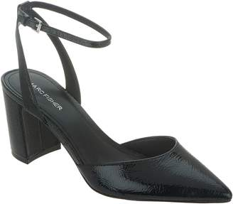 Marc Fisher Pointed Toe Pumps with Ankle Straps - Cedrina