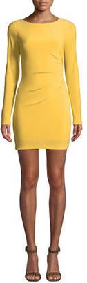 Jay Godfrey JAY X JAYGODFREY Ellsworth Long-Sleeve Scooped-Back Mini Dress