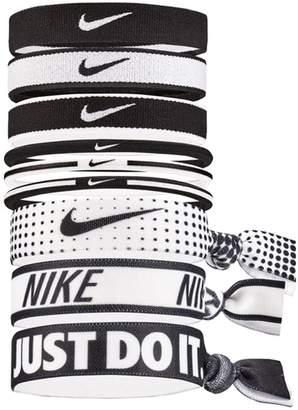 Womens Nike Black/White Hair Ties Nine Pack