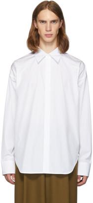 Marni White Pinstripe Shirt