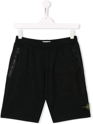 Stone Island Junior patch pocket shorts