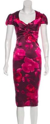 Blumarine Silk-Blend Midi Dress