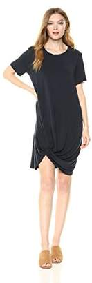 Michael Stars Women's Collection Short Sleeve Knotted Hem Dress