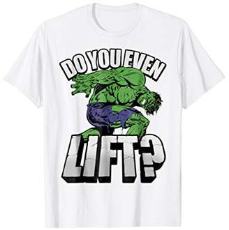 Marvel Hulk Do You Even Lift Workout Graphic T-Shirt
