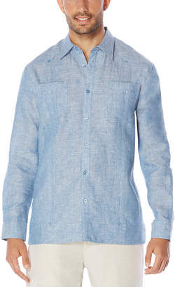 Cubavera 100% Linen Long Sleeve 2 Upper Pocket Guayabera