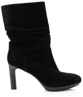 Aquatalia Women's Raegan Slouchy Suede Boots - Black - Size 6