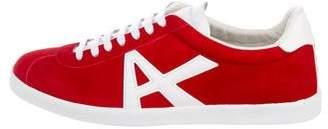 Aquazzura Suede The A Low-Top Sneakers