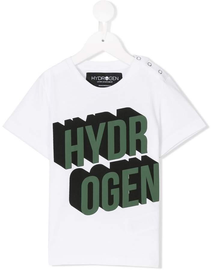 Hydrogen Kids T-Shirt mit Logo-Print