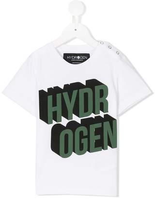 Hydrogen Kids logo print T-shirt