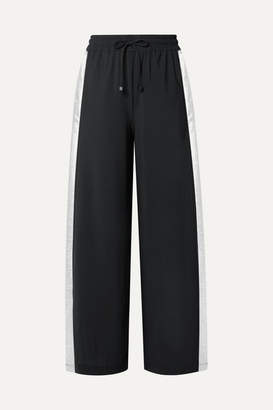 Koral Willow Lamé-trimmed Stretch Track Pants - Black