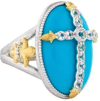 Jude Frances Turquoise & Topaz Cocktail Ring