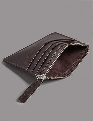 """Marks and Spencer Pebble Grain Leather Card Wallet with Cardsafeâ""""¢"""