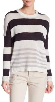 Brochu Walker Zander Linen Blend Stripe Pullover