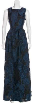 St. John Sleeveless Brocade Gown w/ Tags
