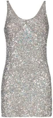 Ashish Scoop neck sequin mini dress