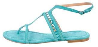 Sigerson Morrison Suede T-Strap Sandals
