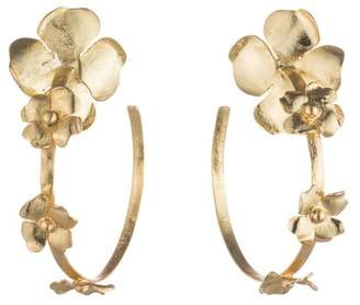 Josie Natori Peony Hoop Earrings