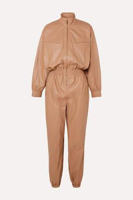 Zimmermann Espionage Leather Jumpsuit - Beige