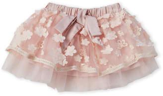 Baby Sara Infant Girls) Floral Applique Mesh Skirt
