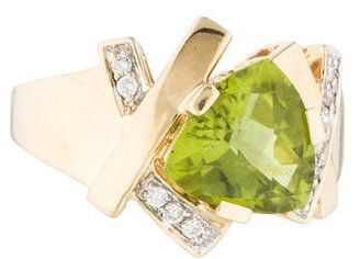 Le Vian 14K Diamond & Peridot Cocktail Ring $895 thestylecure.com
