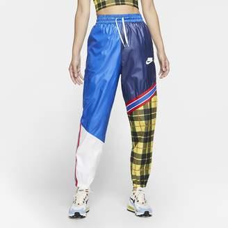 Nike Women's Woven Plaid Pants Sportswear NSW