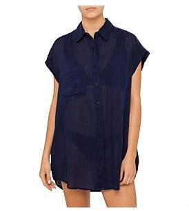 Sunseeker Spray Sleeveless Shirt Dress