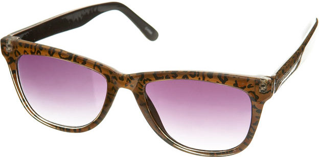 Leopard Wayfarers Sunglasses
