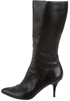 Jimmy Choo Jimmy Choo Leather Pointed-Toe Boots
