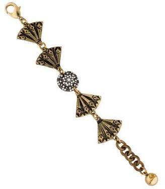 Lulu Frost Crystal Link Bracelet $95 thestylecure.com
