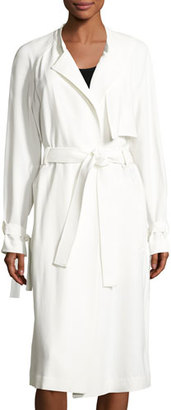 A.L.C. Augusto Belted Trenchcoat, Eggshell $795 thestylecure.com