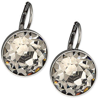 Swarovski Silver-Tone Faceted Crystal Drop Earrings