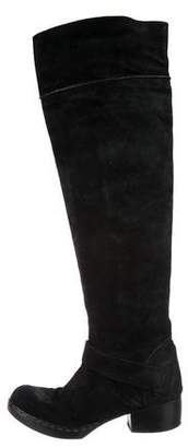 CNC Costume National Suede Over-The-Knee Boots