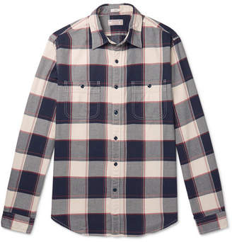 J.Crew Wallace & Barnes Slim-Fit Checked Cotton-Flannel Shirt