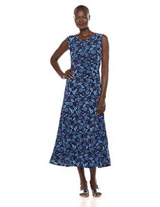 Chaus Women's Cap SLV Ruched Flowering Vines Dress