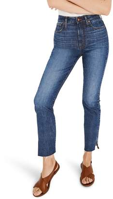 Madewell The Perfect Vintage High Waist Side Slit Crop Jeans