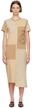 Loewe Beige Patchwork T-Shirt Dress