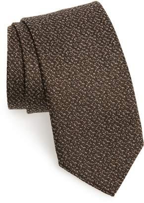 David Donahue Solid Silk & Cotton Tie