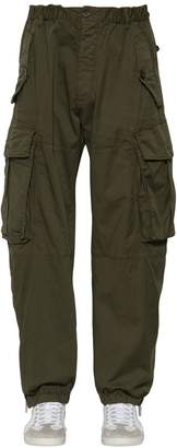 DSQUARED2 25.5cm Combat Cotton Canvas Cargo Pants
