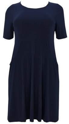 Evans Navy Blue Swing Dress