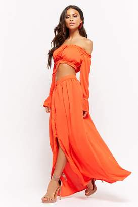 Forever 21 Crop Top & Maxi Skirt Set