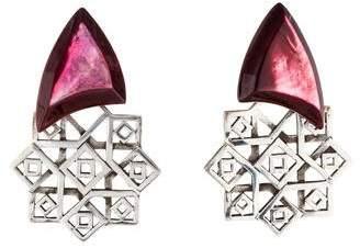 Stephen Dweck Mother of Pearl Drop Clip-On Earrings