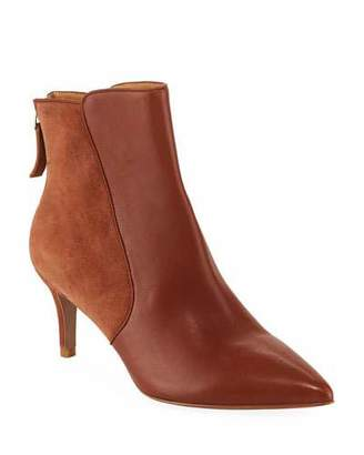 Veronica Beard Josie Leather and Suede Booties