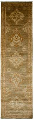 Solo Rugs Oushak Oriental Hand-Knotted Runner
