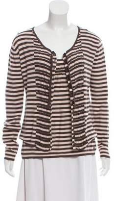 Sonia Rykiel Smocked Striped Cardigan Set