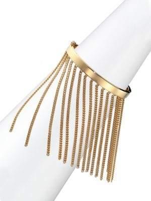 Delphine Fringe Chain Bangle Bracelet